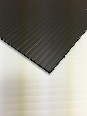2 Pc 4mm Black 12 In X 18 In Corrugated Plastic Coroplast Sheets Sign