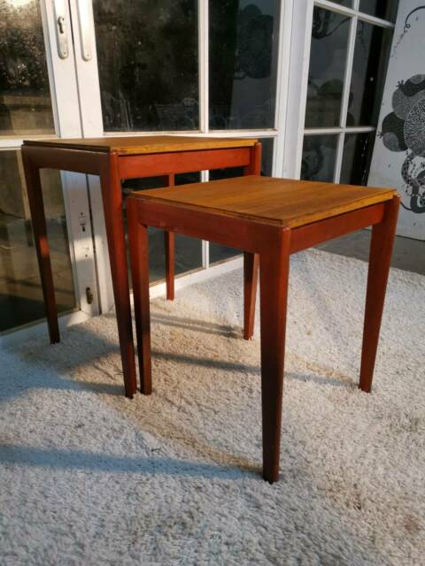 Gorgeous Twin Retro-Vintage Teak Coffee Table Nest -Can ...
