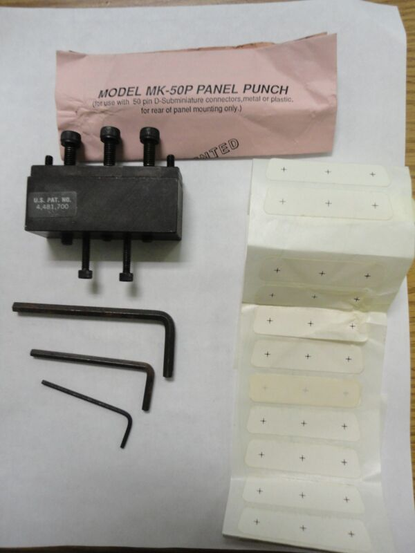 Panel Punch Model MK-50P for 50 Pin D-Subminiature Connector