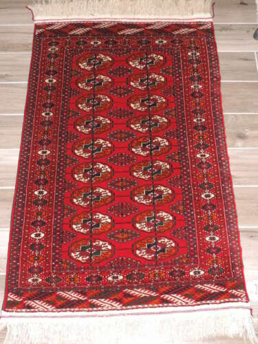 3x5ft. Handmade Tekke Bokharra Turkoman Wool Rug