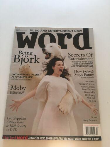 Word Magazine #5 July 2003 BJORK Moby Led Zeppelin Tony Bennett OOP Grandaddy
