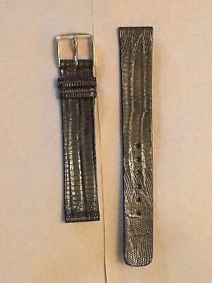 Intricate pattern unpadded Genuine Lizard Dark Brown 16mm vintage watch band NOS 16 Mm Brown Lizard