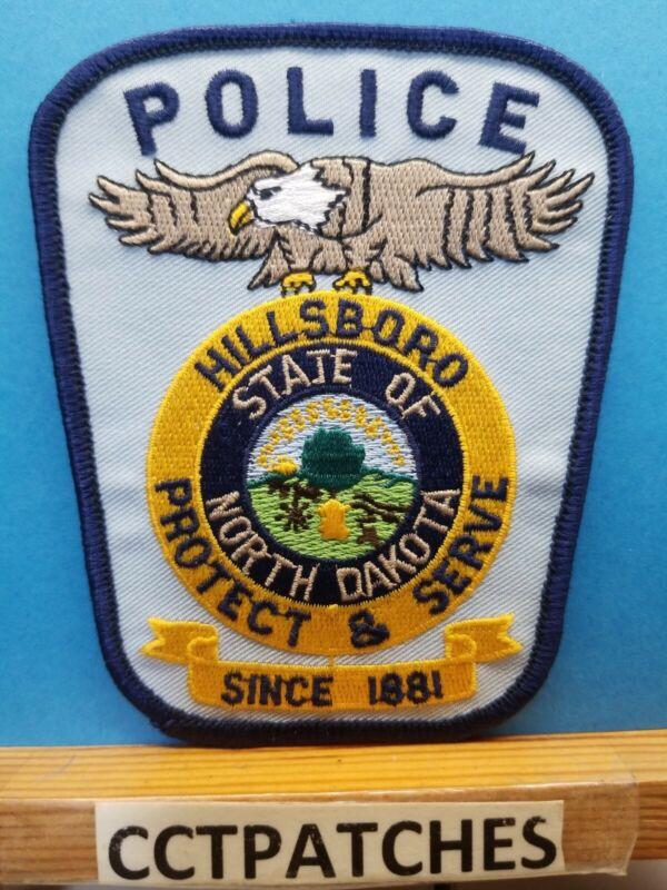 HILLSBORO, NORTH DAKOTA POLICE SHOULDER PATCH ND