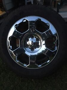 """Ford 6 bolt 20"""" rims with new tires"""