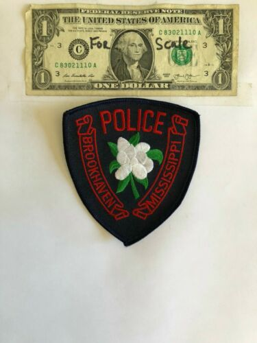 Rarer Brookhaven Mississippi Police Patch Un-sewn Great condition