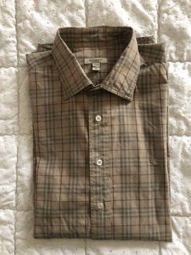 Élégante chemise à manches longues burberry taille xl tartan Écossais