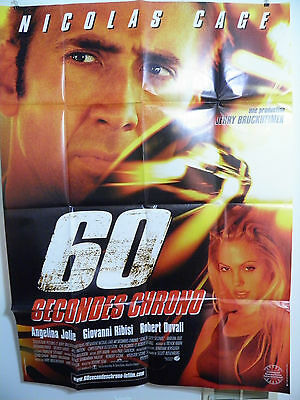 Gone in 60 Seconds Large French Poster 2000 Nicholas Cage Near mint d/s