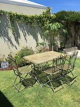 Wrought iron outdoor setting (7 pieces) Rustic look Morley Bayswater Area Preview