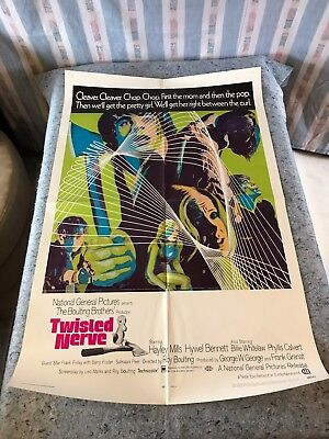 Twisted Nerve 1969 Original 1 Sheet Movie Poster 27  X 41   Vf   Hayley Mills