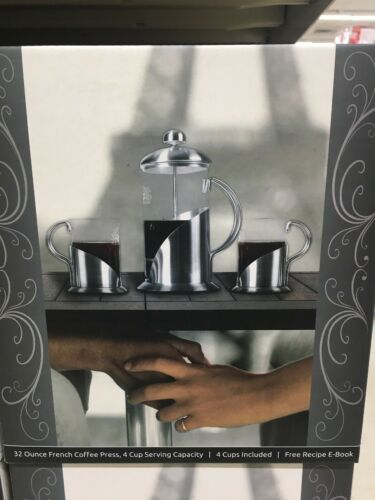 French Press Coffee Tea & Espresso Maker By Pura Vida - Dura