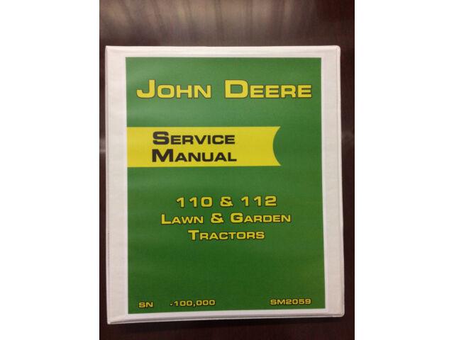 John Deere 110 & 112 Lawn & Garden Tractor