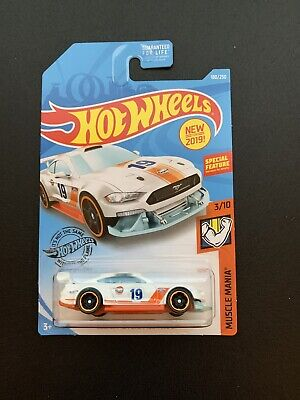 Hot Wheels #180 Muscle Mania 3/10 CUSTOM 18 FORD MUSTANG GT Gulf Light Blue NEW