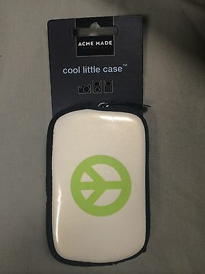 Acme Made Cool Little Case in Peace Out for Cameras or MP3s- NEW