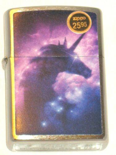 New ZIPPO USA Windproof oil Lighter 12668 Celestial Unicorn Clouds Blue Matte Cs