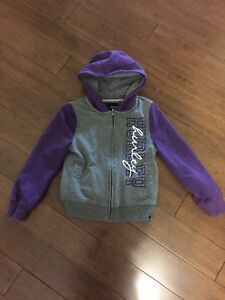 Girls Hurley zip up hoodie size Small 5/6