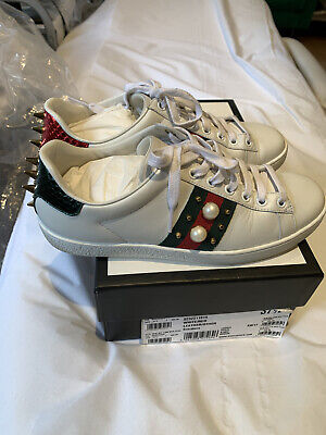 Gucci Trainers New Ace Pearl Low Web Size 37 1/2