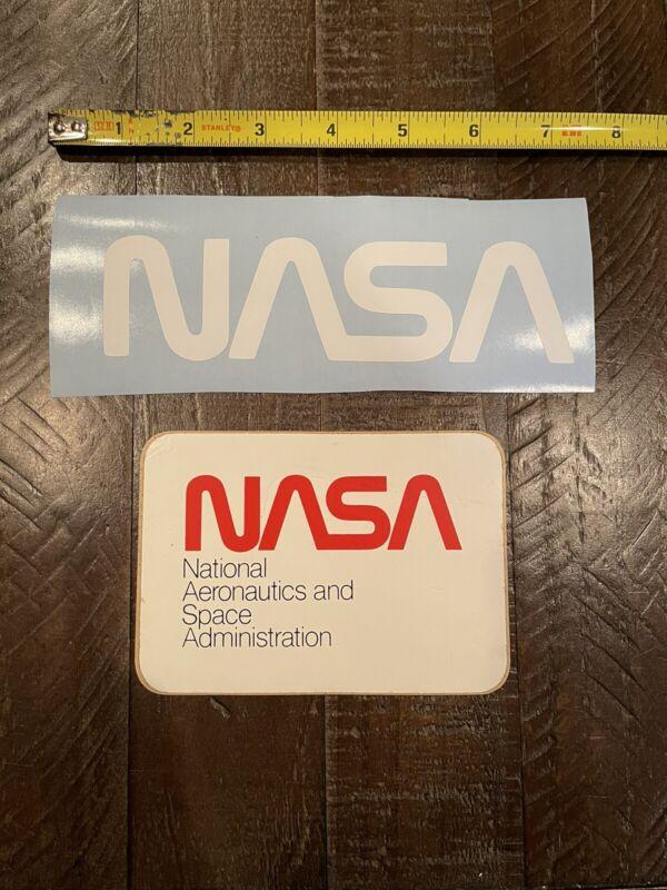Vintage NASA decals zaps set of 2
