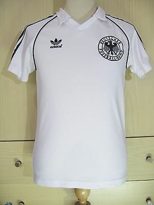 GERMANY WORLD CUP 1974 ADIDAS RETRO BECKENBAUER FOOTBALL TRIKOT SOCCER SHIRT XS image