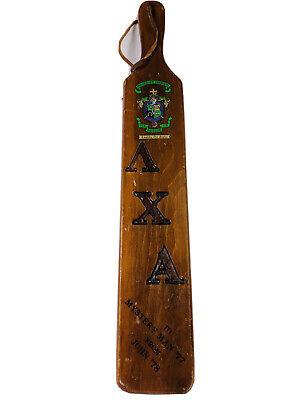 Lambda Chi Alpha Fraternity Paddle Gamma Kappa Zeta Chapter U. of Missouri 1978