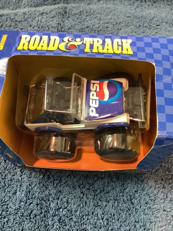 Vintage Pepsi Road & Track 4x4 Jeep DieCast Friction Truck Collector Rare