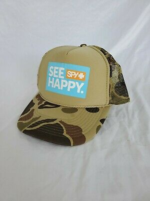 SnapBack Mesh Trucker Hat Khaki Tan (Spy Hats)