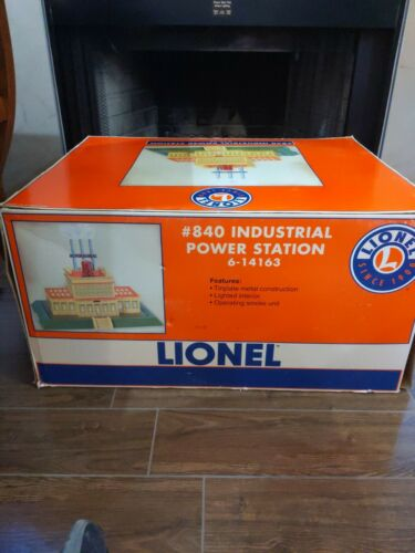 Lionel 6-14163 Industrial Power Station Tinplate Metal/Smoke/Light NIB RARE