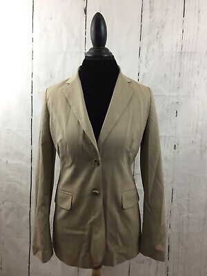 Flap Pocket Wool Blazer - Banana Republic Blazer Tan Beige Flap Pockets Lined Wool Blend Women's Size 6