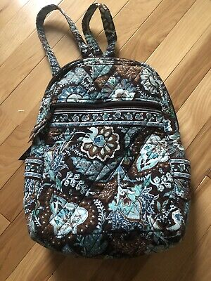 vera bradley java blue mini backpack lightly used pre-owned