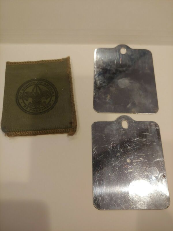 Vintage Boy Scouts of America Official Signal Mirror set W/ Case