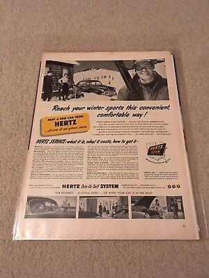 Set Of 3 Original Hertz Rental Car Ads