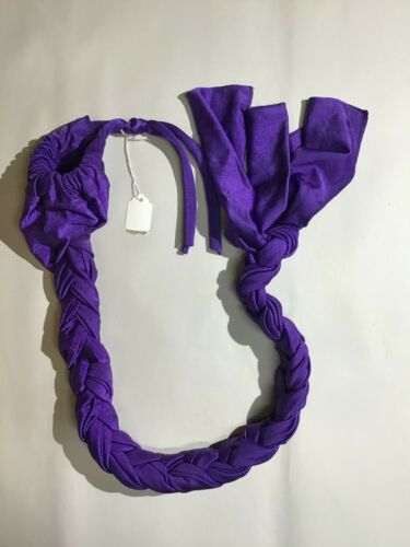 """Showman Braid-in Horse TAIL BAG 42"""" long with Drawstring Purple"""