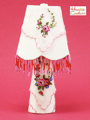 OOAK EMBROIDERED BEADED LAMP BARBIE DOLL SIZE FURNITURE BY HANKIE COUTURE