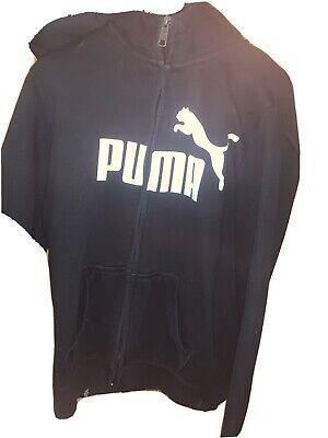 Puma Full Zip Hoodie Uk 14 Black Long Sleeve Used PUMA SIZE 14 HOODIE