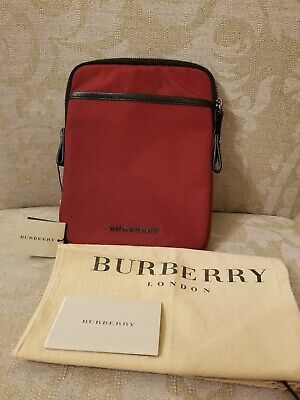 NWT $415 Burberry Ipad Mini Come what may Holder Pouch Cover Sleeve Bag Red