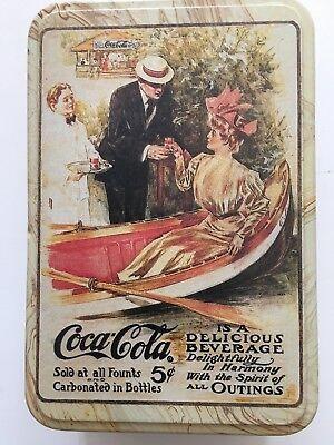 "Vintage Coca Cola Tin Box  7.5""'x5""X2.5"""