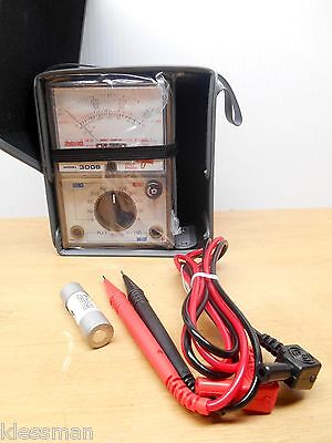Hioki 3008 Analog Multimeter Drop Proof 600v