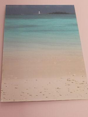 Bahamas beach scene acrylic mounted photo - 45cm x 30cm