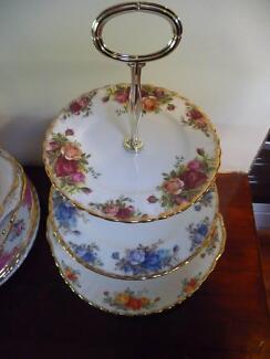 ROYAL ALBERT 3 TIERED HIGH TEA Plates Prices Vary