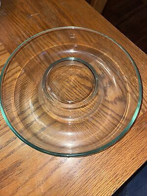 """Pyrex 25 CM France Bundt Pan Cake Ring 10"""" Jello Mold Clear Glass Vintage Great"""
