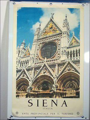 Tourismus Ansichts Plakat 50er Jahre Siena #1 Velin Papier 1957 Künstler Poster