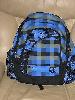 NWT ROXY Girls Purple/Black Buffalo Check Gorgeous Backpack Book Bag, School!! for sale  Orange Park