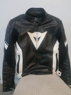 Dainese Leather Motorcycle Jacket Size 56