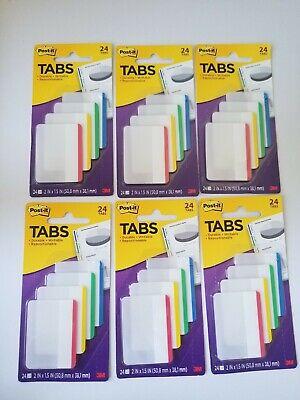 3m Post-it Tabs 2 X 1.5 4 Bright Colors 24 Ct Per Pack Lot Of 6