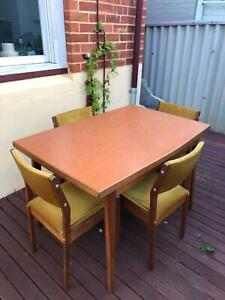 Vintage Dining Set with Extendable table