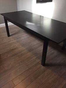 Table, chair, bed