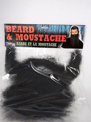 Black Beard & Moustache Hair Disguise Stage Character Costume Halloween Forum - Bearded Characters Halloween