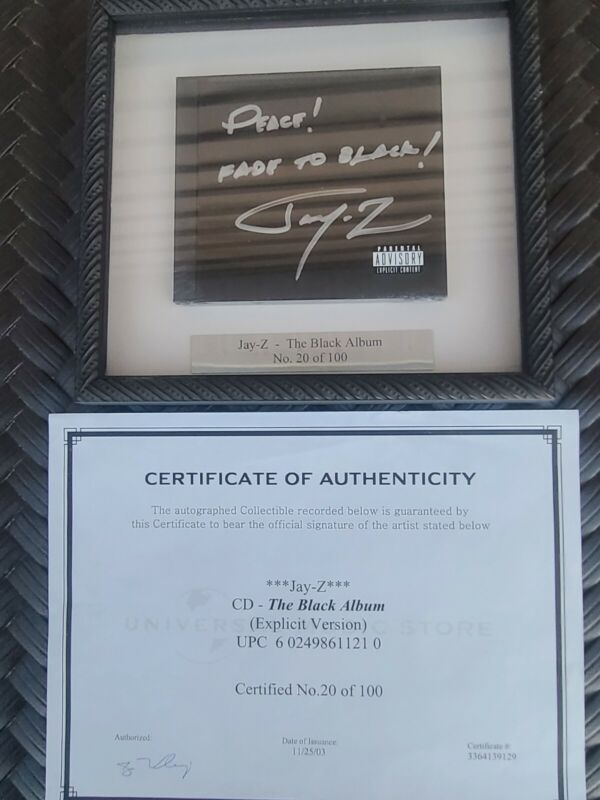 Jay-Z The Black Album Autographed Signed CD - RARE - only 100 Signed (No. 20)