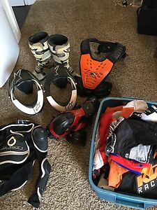 Motocross gear and parts