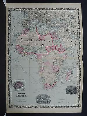 Antique Map, Johnson's, 1862 Double Page, Africa M10#30