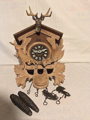 Vintage E Schmeckenbecher Regula Black Forest W Germany Cuckoo Clock